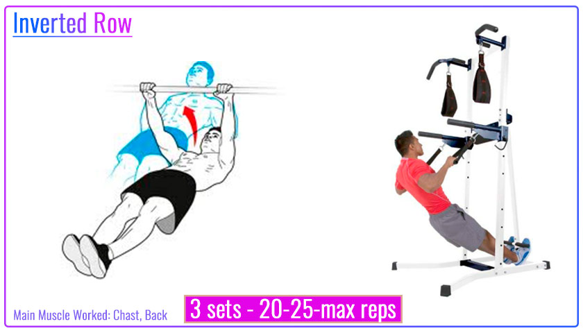 Inverted Row with pull up tower