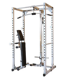 Powerline PPR200x Power Rack with Lat Attachment