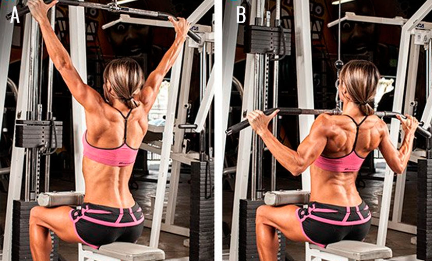 Wide-Grip Lat Pull-down