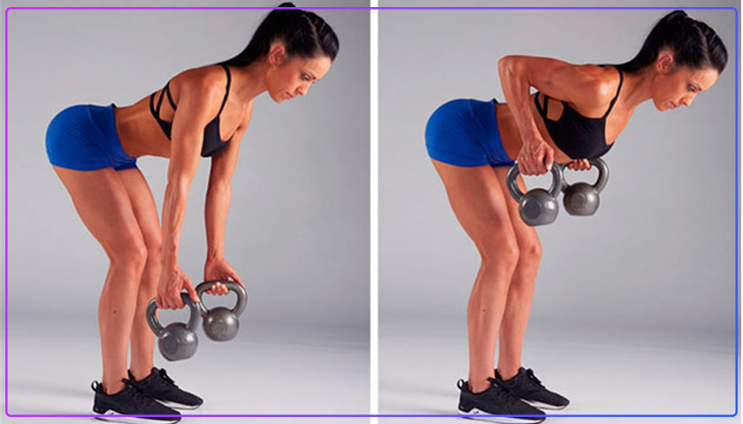 Bent-Over Row With Kettlebell