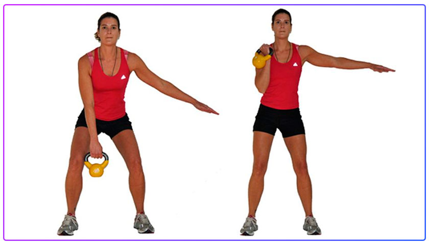 Kettlebell Deadlift Clean