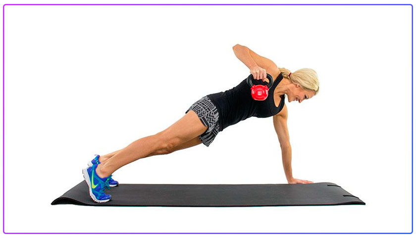 Kettlebell Power Plank With Row