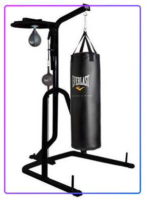 Three-Station Heavy Duty Punching Bag Stand
