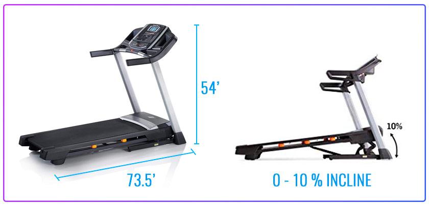 Treadmill NordicTrack T 6.5 Series