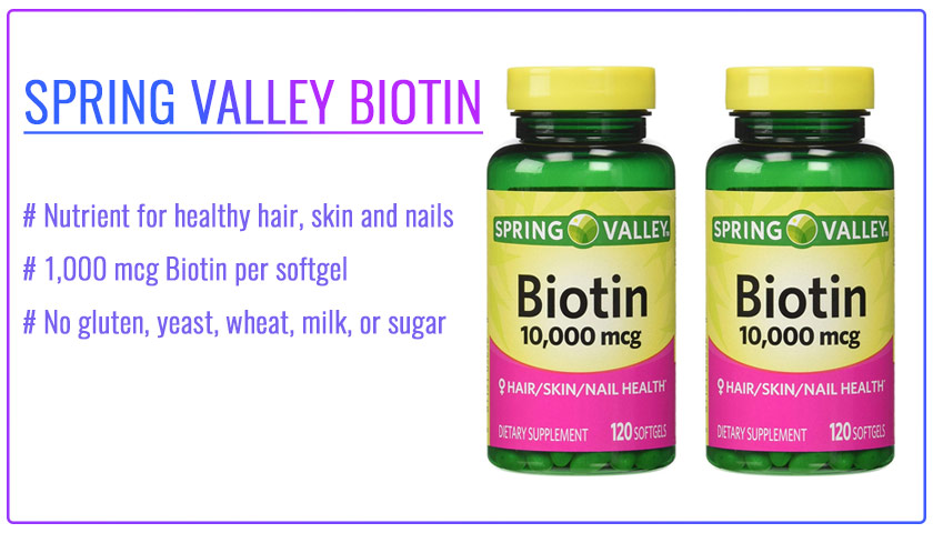 spring valley biotin 10000 mcg reviews